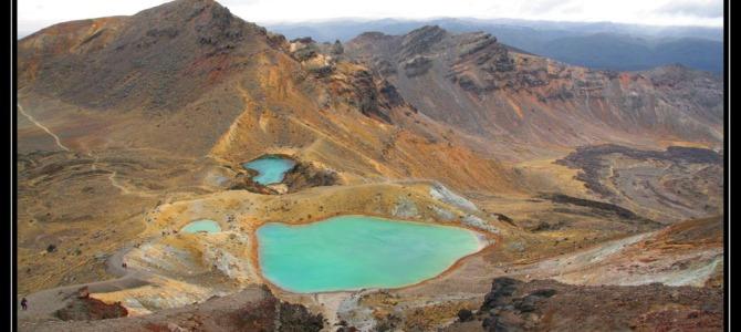Tongariro – přechod přes alpy – Nový Zéland