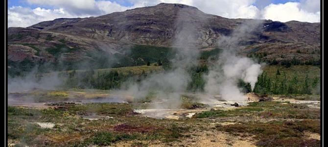 Gejzír a nejvyšší vodopád Islandu Glymur – Island